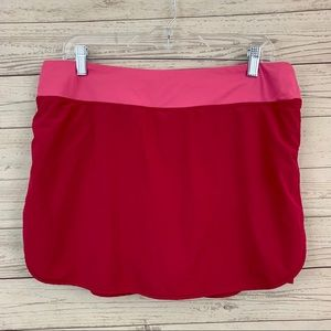 Lucy pink tennis skort shorts-skirt stretch
